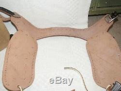 1950s RUSSELL Cowboy Holster Set 97BW Genuine Top Grain LEATHER in Original Box