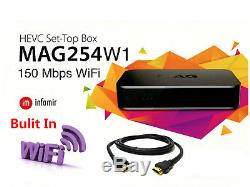2018 MAG 254w1 W1 IPTV OTT Set Top Box Internet TV STB with150 Mbps Built in Wifi