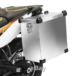 Alu Pannier Set Namib 35l-35l Top Box 38L with mounting kit for luggage racks