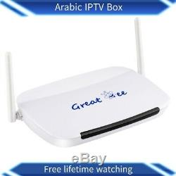 Arabic Tv Box android 4.4 wifi for IPTV Set Top Box Free Lifetime Watching