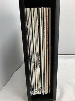 BEATLES WOODEN ROLL TOP BOX SET 14 LPs VERY RARE LIMITED EDITION 1988