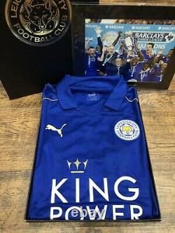 BNWT Official Puma Leicester City CHAMPIONS GIFT BOX SET 2016 17 Shirt Top Vardy