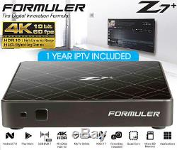 FORMULER Z7+ IPTV SET TOP BOX With12 MONTH IPTV SERVICE ANDROID 7 4K