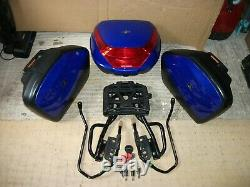 Genuine Honda Cbf1000 Topbox & Panniers Blue With Mounts Frames & 2 Key Sets