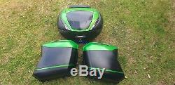 Genuine Kawasaki Versys 1000GT Pannier and Top Box Set 2017-on Candy Green