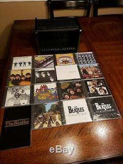 Georgous 1988 Beatles Wooden Roll Top Complete Box Set with16 NEW CD's & Booklet