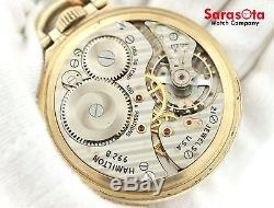 Hamilton Railway Special 16S Lever Set Box Top Gold Filled 992B Pocket Watch