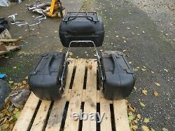 Hepco becker full set of panniers top box and mounting frame goldwing