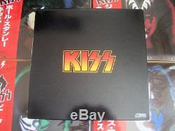 KISS 4 SOLO LP's and PROMO BOX SET Japan TOP