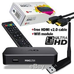 MAG 256 Set-Top-Box with USB 150 Mbps WIFI adapter & HDMI Cable