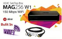 MAG 256 W1 IPTV Set-Top-Box MAG256W1 with Built-in 150Mbps WIFI & HDMI Cable