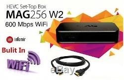 MAG 256 W2 Set-Top-Box MAG 256W2 with Built-in 600Mbps WIFI & HDMI Cable