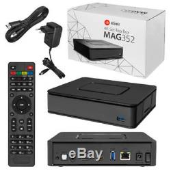 Mag 351/352 Set Top Box IPTV Linux 4K UHD HEVC In-built Wifi and Bluetooth USED