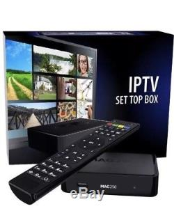 Mag Box 250 With 12 Months Iptv Subscription Plug And Play Set Top Box