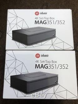 Mag351/352 Set Top Box IPTV Linux 4K UHD HEVC In-built Wifi and Bluetooth