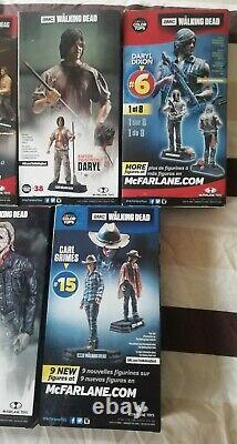 Mcfarlane The Walking dead Color Tops Complete Set Of 11 Boxed Figures