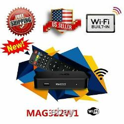 NEW MAG 322W1 MAG 322 W1 infomir SET ON TOP BOX built-in Wi-Fi update for MAG254