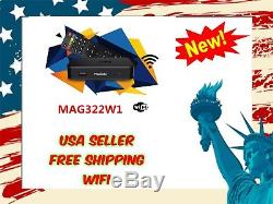 NEW MAG322W1 IPTV SET ON TOP BOX INFOMIR build-in wifi update for MAG254 256