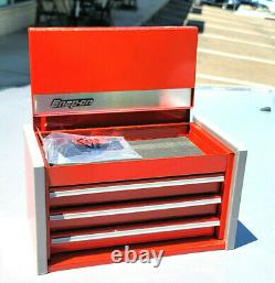 New Snap-On Red Candied Apple Micro Tool Box RARE TOP & BOTTOM SET MINI JEWELRY