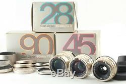 Perfect SET! ALL TOP Mint in BoxContax Carl Zeiss T 28mm 45mm 90mm Lens G1 G2