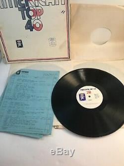 Rare Watermark American Top 40 Box Set 3 LP Vinyl Records withCue Sheet 4/19/1975