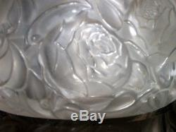 Rene Lalique 1927 Rare Dinard Box, Top Set in Sterling Silver Frame. Signed