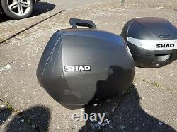 Shad Panniers And Top Box Set With Brackets For A Yamaha YS 125