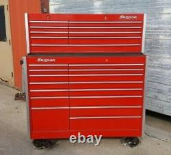 Snap On Tool Box Top Bottom Set Rolling Cabinet And Top Chest Rolling Cabinet