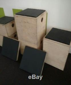 Stackable Plyo Plyometric CROSSFIT boxes set of 5 (12 16 18 20 24) +2 tops