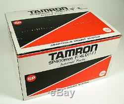 TAMRON SP 4/400 400 400mm F4 LD IF Set top OVP boxed complete Adaptall-2 rare