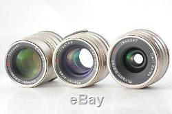 TOP MINT in BOXCONTAX G1 20years kit 28 45 90 Lens set From JAPAN #0559