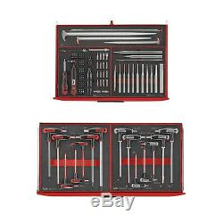 Teng Tools Super 417Pce Tool Kit Red FOAM TRAYS Toolbox Top Box Roller Cab