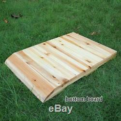 Top Beekeeping Wooden House Box + 7pc Automatic Harvest Honey Beehive Frames Set