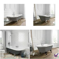 Traditional Freestanding Bath Roll Top Acrylic Baths Double Ended Slipper Dove G
