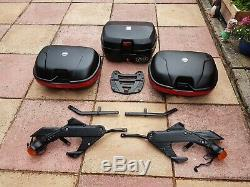 VFR750 RC36 1990 Full set Givi Luggage and wingrack rear rack. Topbox 2 panniers