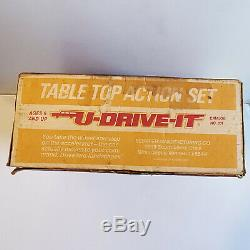 Vintage 1974 Schaper U-Drive-It Table Top Action Set Driving Game #801 with Box