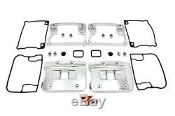 Wyatt Gatling Top Rocker Box Cover and D-Ring Set Chrome fits Harley Davidson