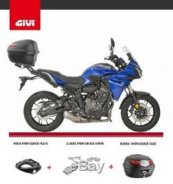 YAMAHA MT-07 TRACER 700 2017 GIVI B360N TOP BOX + 2130FZ + M5M complete RACK set