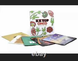 Zz Top Cinco The First Five Lp's 180g Lp Box Set Rare Out Of Print Sealed